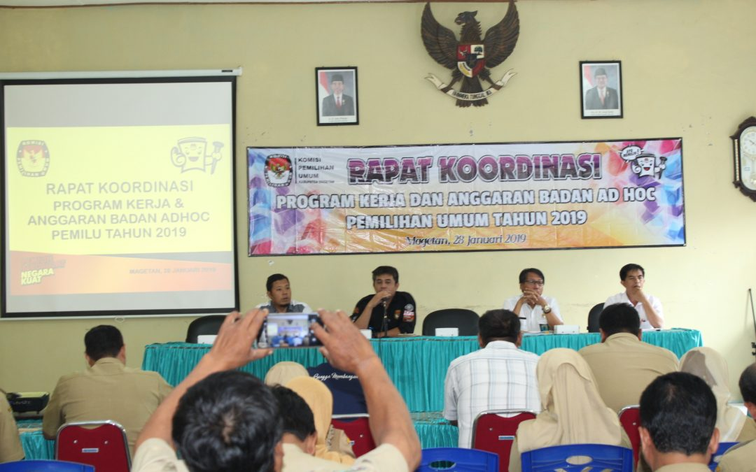 Koordinasi Program Kerja dan Anggaran Badan Ad Hoc Pemilu 2019