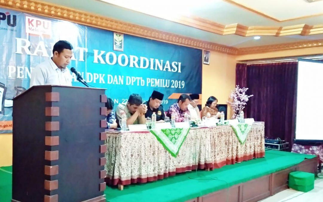 Rakor Penyusunan DPK dan DPTb Pemilu 2019 di Sarangan