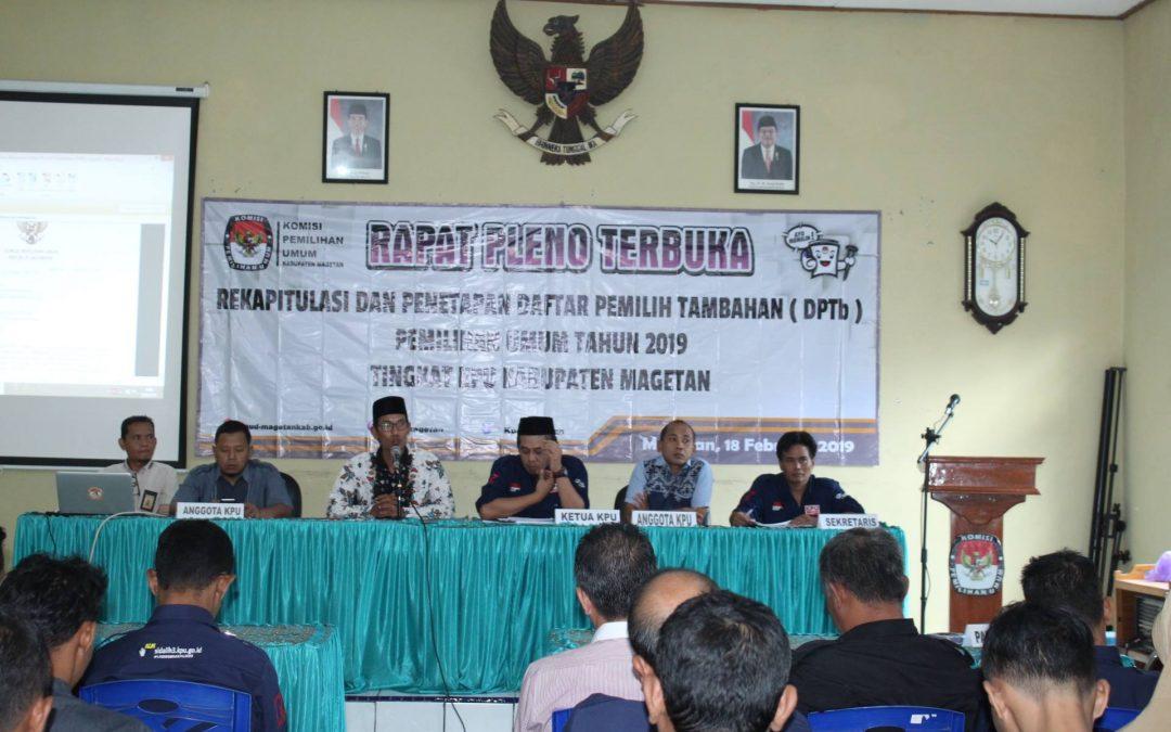 Penetapan Daftar Pemilih Tambahan (DPTb) di Kabupaten Magetan