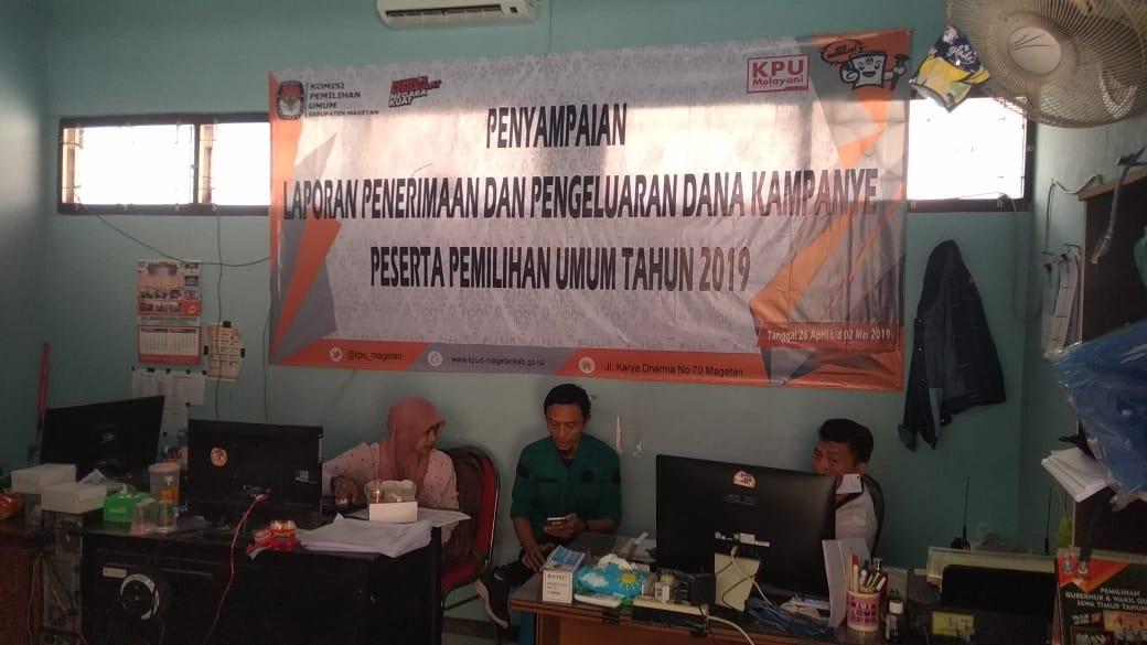 Enam Partai Politik Sudah Menyampaikan Laporan Penerimaan dan Pengeluaran Dana Kampanye ke Provinsi