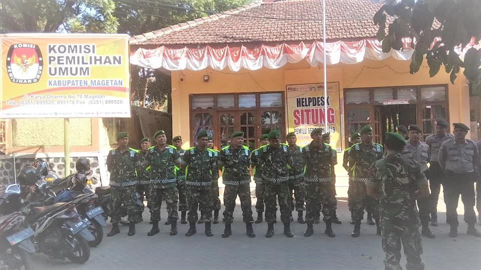 PUTUSAN MK, TNI-POLRI PERKETAT PENGAMANAN KPU MAGETAN
