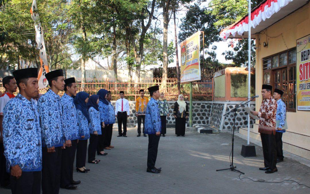 SDM UNGGUL INDONESIA MAJU, UPACARA HUT 74 KEMERDEKAAN RI KPU MAGETAN